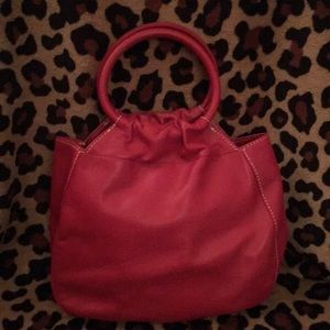 Talbots Red Leather Bag